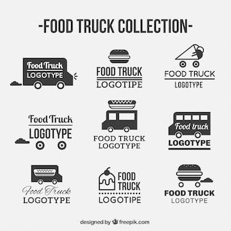 Coleção de logotipo do caminhão de alimentos
