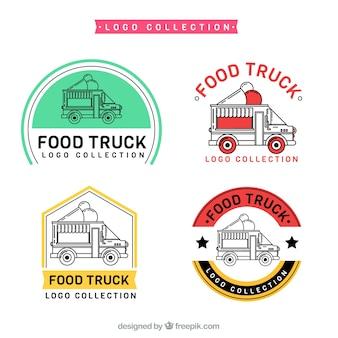 Coleção de logotipo do caminhão de sorvete