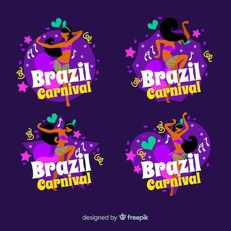 Coleção de logotipo do carnaval brasileiro