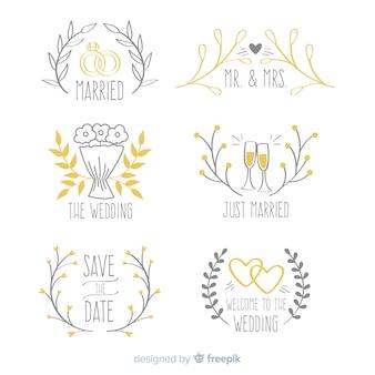 Coleção de logotipo do casamento
