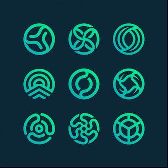 Coleção de logotipo do círculo