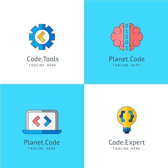 Coleção de logotipo do código
