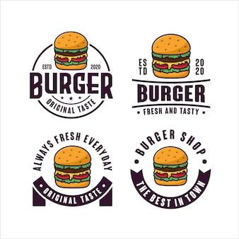 Coleção de logotipo do design de hambúrgueres