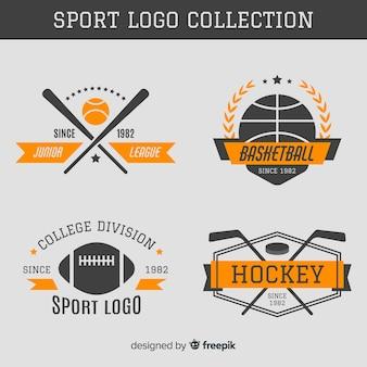 Coleção de logotipo do esporte