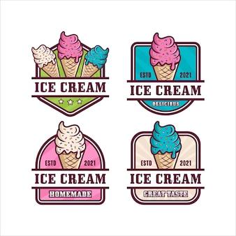 Coleção de logotipo do ice cream