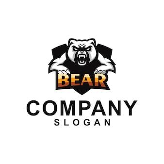 Coleção de logotipo do urso