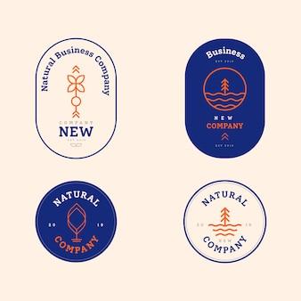 Coleção de logotipo em duas cores