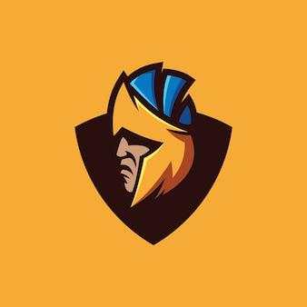 Coleção de logotipo espartano