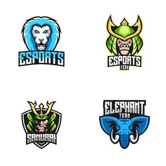 Coleção de logotipo esport