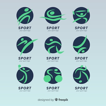Coleção de logotipo esporte moderno