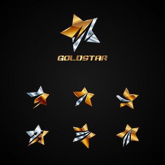 Coleção de logotipo estrela de ouro