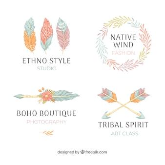 Coleção de logotipo étnico