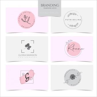 Coleção de logotipo feminino