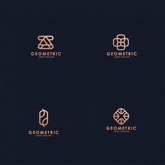 Coleção de logotipo geométrico.