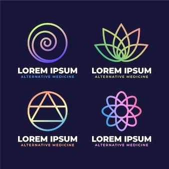 Coleção de logotipo holístico de gradiente