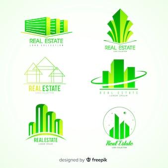 Coleção de logotipo imobiliário moderno