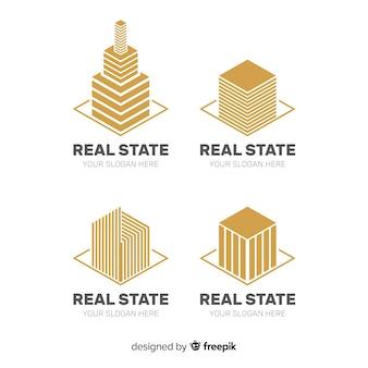 Coleção de logotipo imobiliário