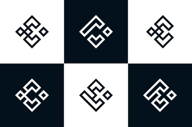 Coleção de logotipo inicial do monograma