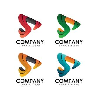 Coleção de logotipo inicial letra s