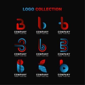 Coleção de logotipo letra b