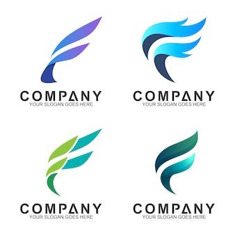 Coleção de logotipo letra f