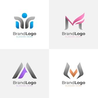 Coleção de logotipo m