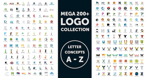 Coleção de logotipo mega