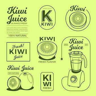 Coleção de logotipo mínimo de kiwi