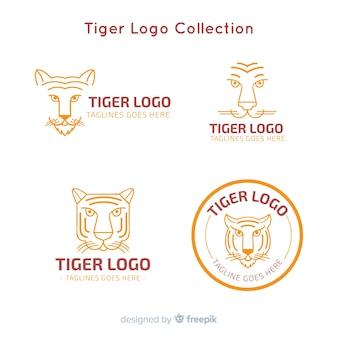 Coleção de logotipo moderno tigre