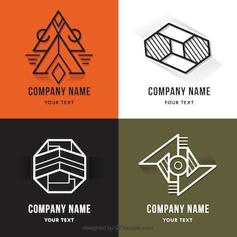 Coleção de logótipo monoline