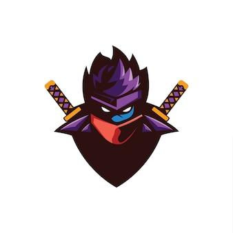 Coleção de logotipo ninja