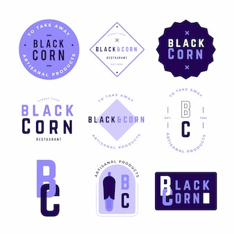 Coleção de logotipo no modelo de duas cores