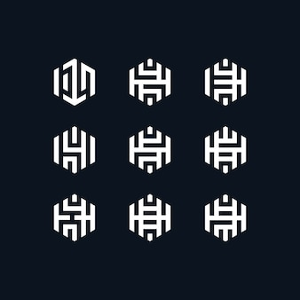 Coleção de logotipo número