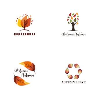 Coleção de logotipo outono