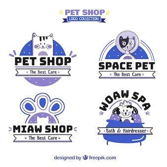 Coleção de logotipo pet shiop