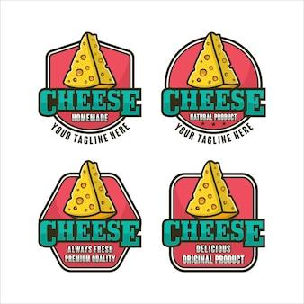 Coleção de logotipo premium com design cheese