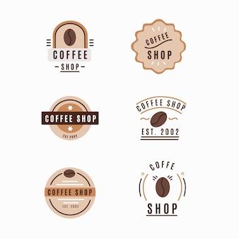 Coleção de logotipo retrô cafeteria
