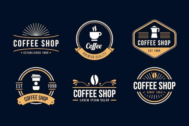 Coleção de logotipo retrô de café