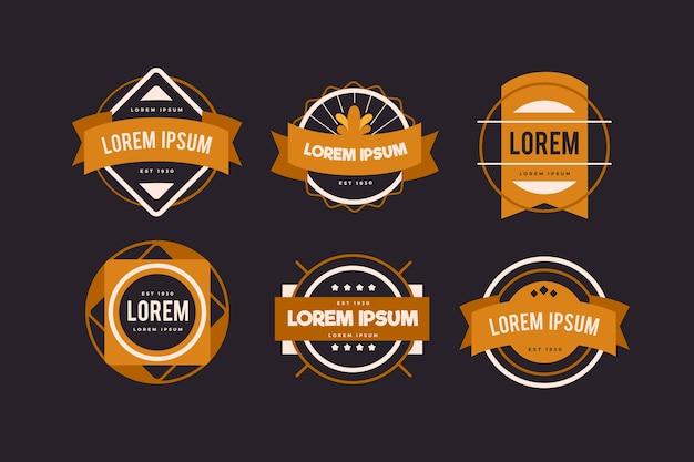 Coleção de logotipo retrô