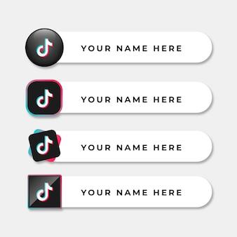 Coleção de logotipo tiktok