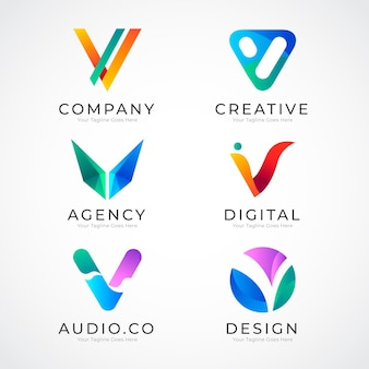 Coleção de logotipo v