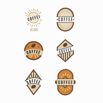 Coleção de logotipo vintage de café