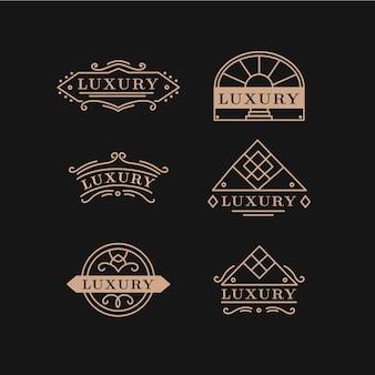Coleção de logotipo vintage de luxo