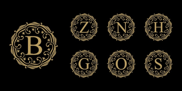 Coleção de logotipo vintage luxury letter