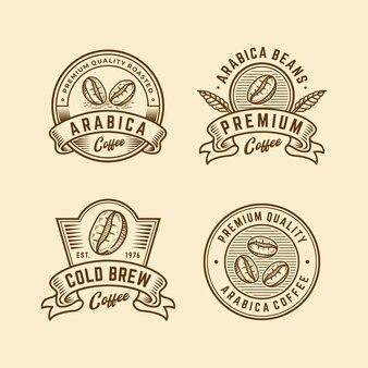 Coleção de logotipo vintage retrô de café