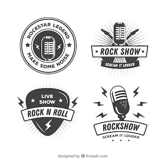 Coleção de logotipo vintage rock