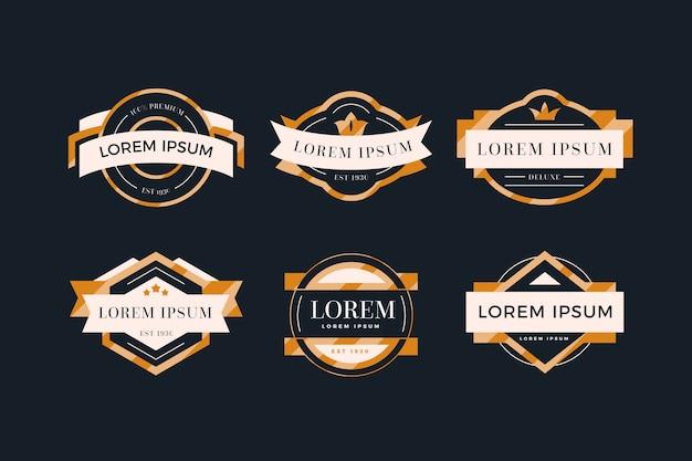 Coleção de logotipo vintage