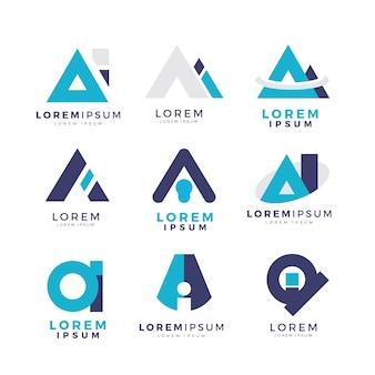 Coleção de logotipos ai de design plano