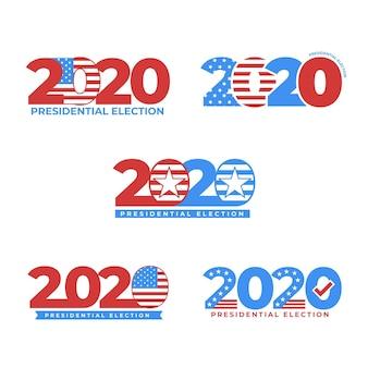 Coleção de logotipos da eleição presidencial dos eua de 2020