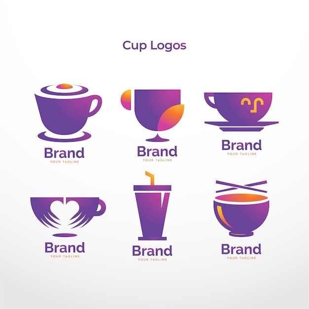 Coleção de logotipos da empresa cup